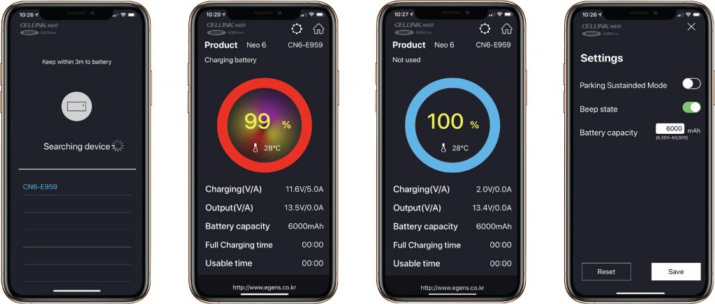 NEO BATTERY MANAGER APP